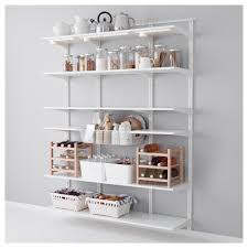 algot wandrail plank mand wit ikea algot shelves and pantry
