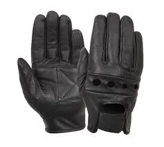 bike gloves black leather cycle motorcycle bike biker police highway patrol
