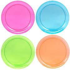 neon plastic dinner plates assorted birthdayexpress