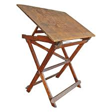 Wood Drafting Table Solid Wood Folding Drafting Table Mills Architectural Salvage