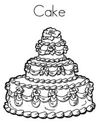 fabulous birthday cake in birthday cake coloring page on with hd
