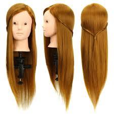 50 human hair makeup mannequin hairdressing training head salon
