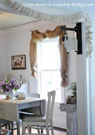 Swag Curtains For Living Room No Sew Landscape Burlap Swag Curtains Town U0026 Country Living