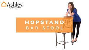 I Home Store by Ashley Homestore I Hopstand Counter Height Bar Stool Youtube