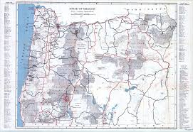 State Of Oregon Map by Oregon End Of The Trail Compiled By Workers Of The Writers