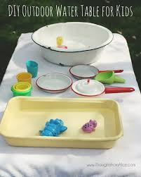diy outdoor water table for kids