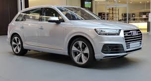 all audi q7 all audi q7 on showroom floor wearing florett silver