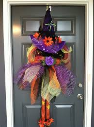 fun and creative diy halloween witch wreath ideas