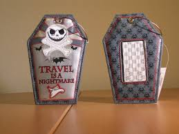 travel is a nightmare luggage tags the pumpkin king collection