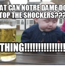Notre Dame Football Memes - at can notre damed top the shockersp01 thing top
