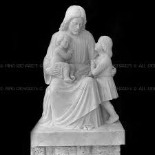 christ jesus with the children 5 u0027 new hand carved marble wood