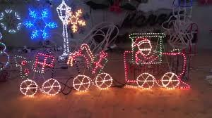 Christmas Decorations Rope Lights by Christmas Lighting Show Display Santa Train Christmas Rope Light