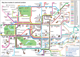 Bus Map Nyc Official Map Key Bus Routes In Central London This Charming