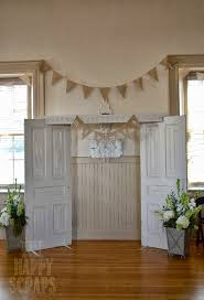 wedding backdrop doors vintage wedding decor the happy scraps