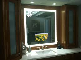 Tv In Mirror Bathroom by Led Lighted Mirror Tvs Glass Tek Glass Tek