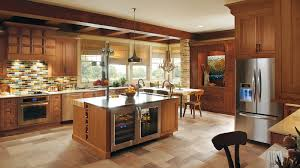 rustic kitchen with cherry wood cabinets omega