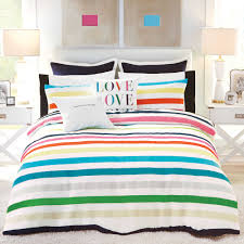 bedding kate spade new york candy stripe full queen comforter set