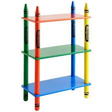 crayola 3 shelf bookcase kids furniture b u0026m
