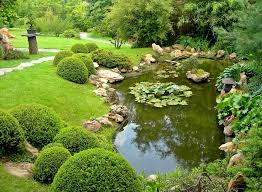 Pond Landscaping Ideas Garden Design Garden Design With Patio Seating Area Overlooking