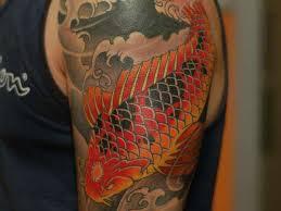 watercolor pin tattoos koi fish for