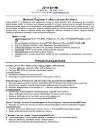 sample resume for network engineer eliolera com