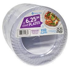 clear plastic plates member s clear plastic plates 6 25 110 ct sam s club
