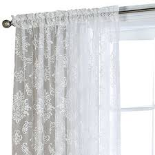 White Lace Window Valances Lace White Curtains U0026 Drapes For Window Jcpenney