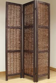 shabby chic wicker room divider screen 3 panel brown u2013 room