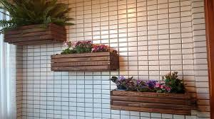 wooden wall hanging diy pallet wall hanging planters