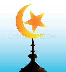 crescent moon and with sky stock vector colourbox