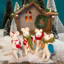 christmas mice set of 4 u2013 chinaberry gifts to delight the whole