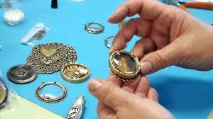 Customized Pendants Using Deep Bezels And Magnifying Lenses To Make Customized