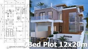 sketchup modern villa design 12mx20m youtube