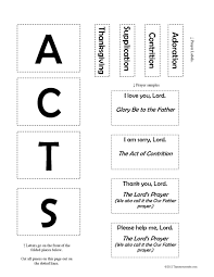 prayer acts f3 activity that resource site