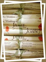 cheap wedding ceremony programs one page diy wedding programs the scroll wedding programs diy