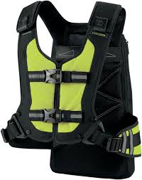 motorcycle riding vest icon squad 3 hi vis yellow motorcycle adventure bike enduro riding