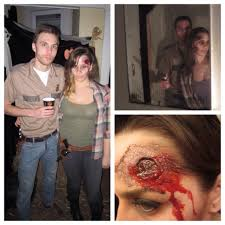 halloween diy couples costume rick and dead lori grimes from