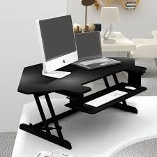 Height Adjustable Corner Desk by Corner Sit Stand Height Adjustable Standing Desk Black U2013 Smugdesk