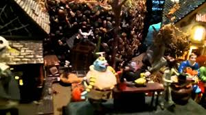 hawthorne village halloween dept 56 halloween town with nightmare before christmas train youtube