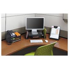 Safco Desk Organizer by Onyx Angled Mesh Steel Telephone Stand By Safco Saf2160bl