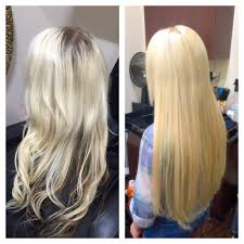 22 inch hair extensions before and after before and after removal of hot fusion extensions and install of