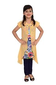 arshia fashions girls dress jeans and top sleeveless party wear