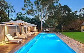 Backyard Pool Design by Cool Exotic Long Backyard Pool Design Ideas With Cozy Lounge