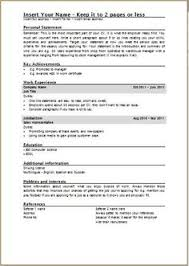 Uk Resume Example by Free Download Curriculum Vitae Blank Format Http Www