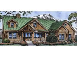 Ranch Style Log Home Floor Plans Hwepl11777 Three Bedroom 2 5 Bathroom Log Cabin Ranch Style Home