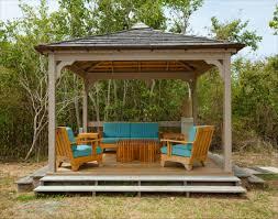 Simple Backyard Patio Ideas Deck Canopy Cozy Outdoor Frameless Simple Wooden Gazebo Newest