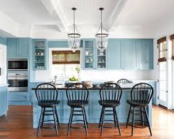 light blue cabinets kitchen beautiful blue cabinets bring warmth and character to these