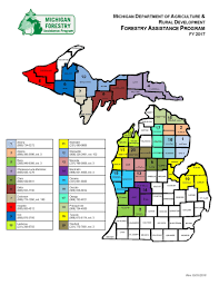 Map Of University Of Michigan Mdard Forestry Assistance Program Fap