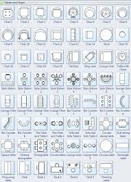 Furniture For Floor Plans Symbols For Floor Plan Tables And Chairs