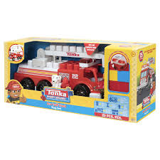 tonka fire rescue truck tonka mighty builders fire truck playset 25 pieces meijer com